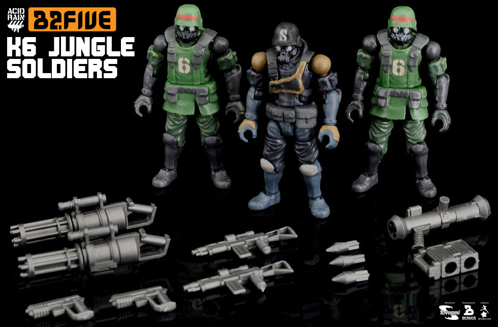 B2 Five K6 JUNGLE SOLDIERS SET