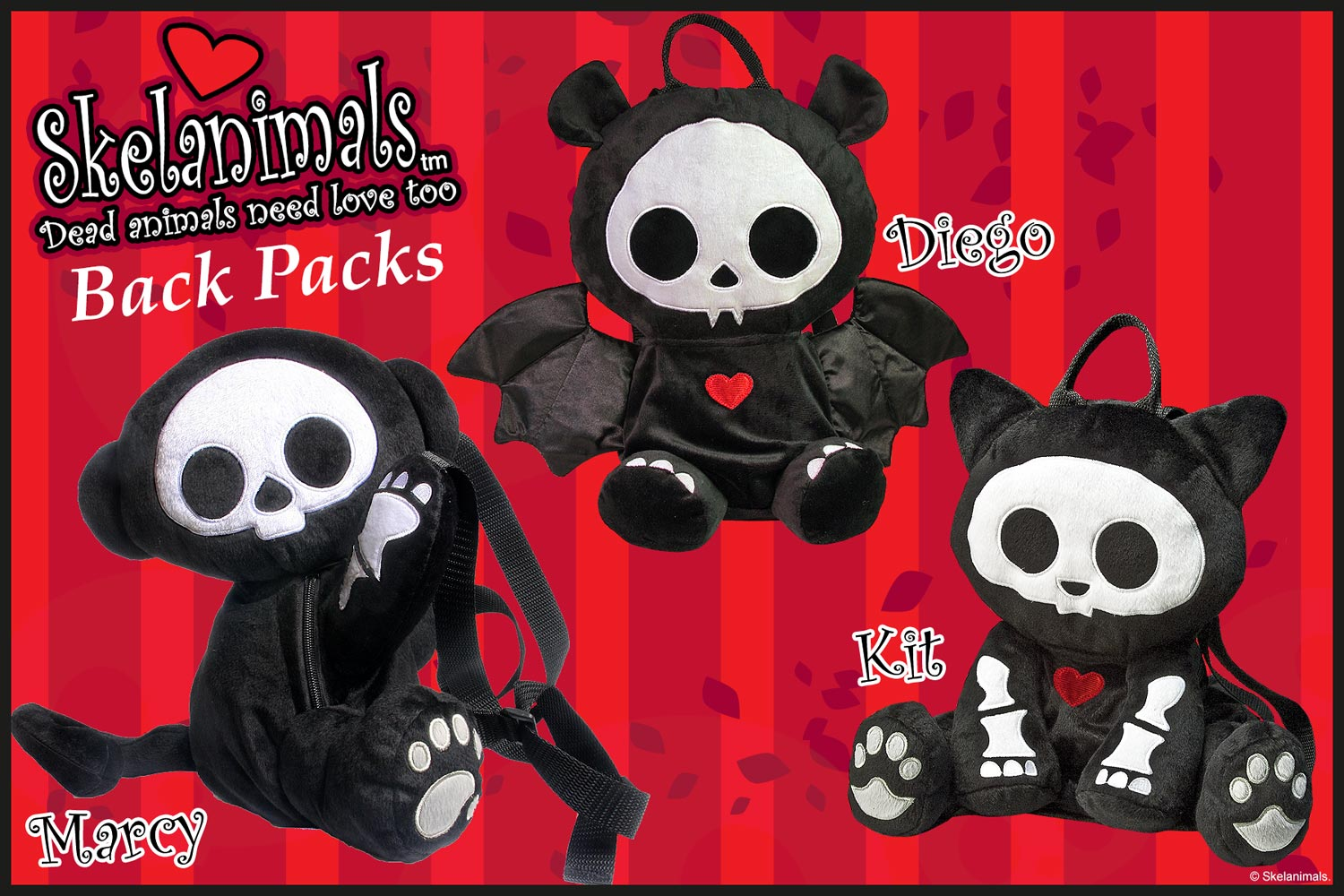 Skelanimal Deluxe Backpacks