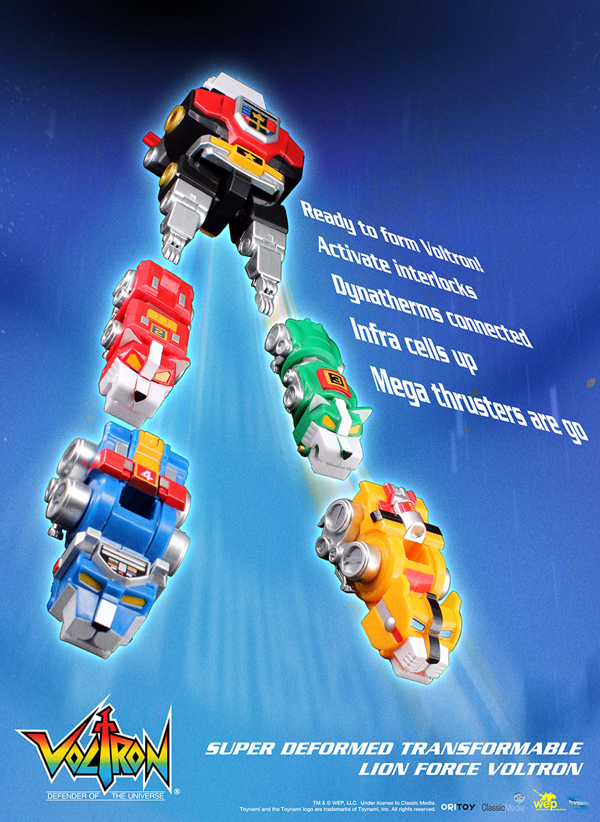 The 5 lions will form voltron and each transform separately includes